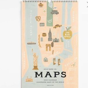 Rifle Paper Co. 2020 Maps Calendar NEW